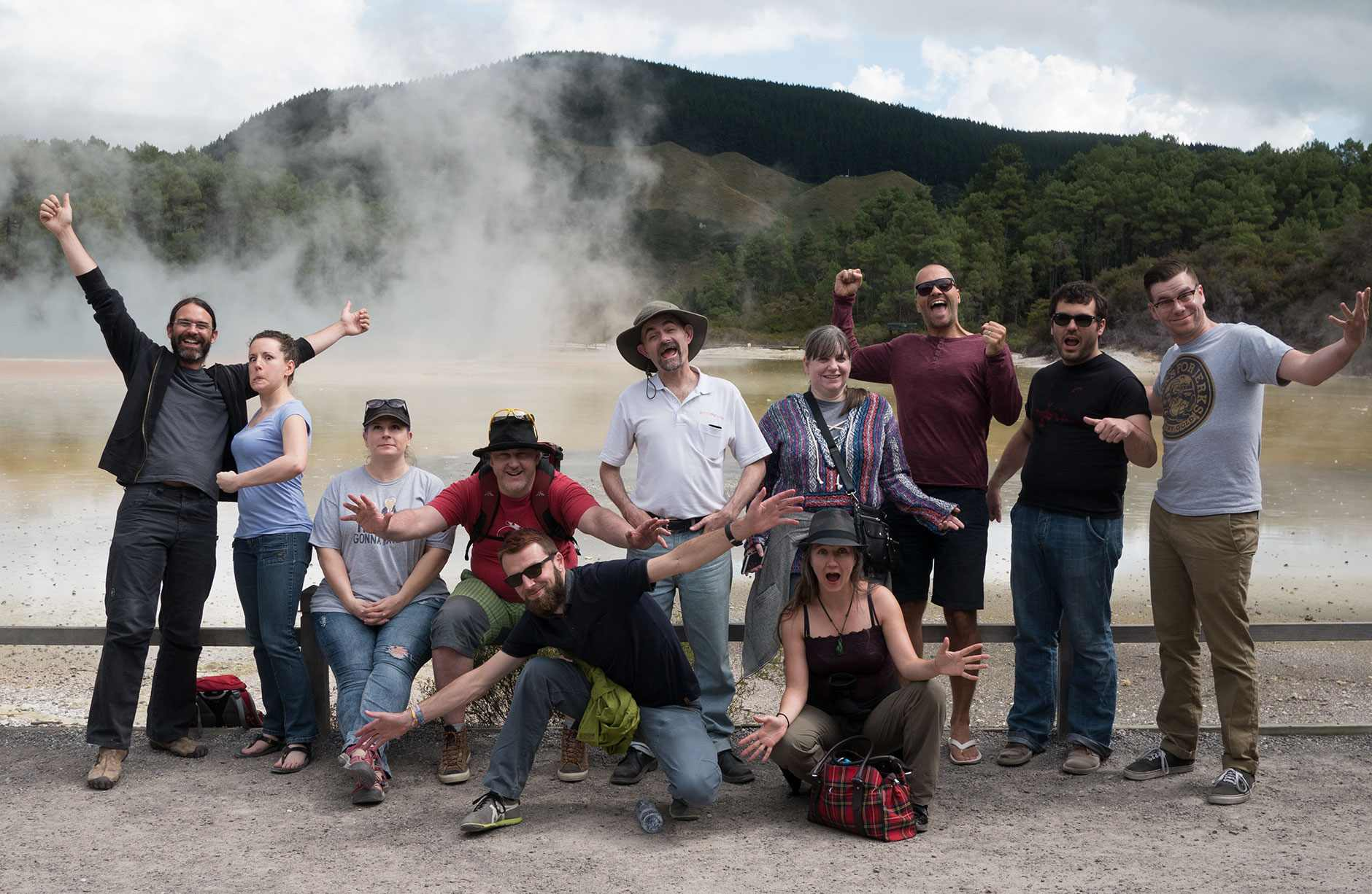 iwantmyname team in Wai-O-Tapu, Taupo (New Zealand)